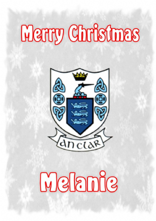 Personalised Clare Crest Christmas Card